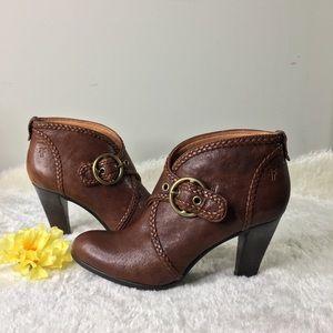 Frye Vicki Cognac Brown Booties Size 8M